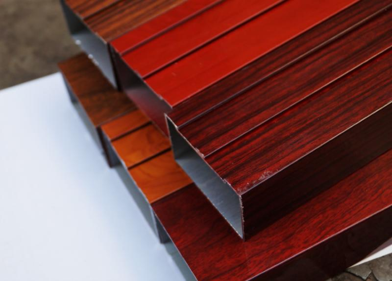 wood finish aluminium