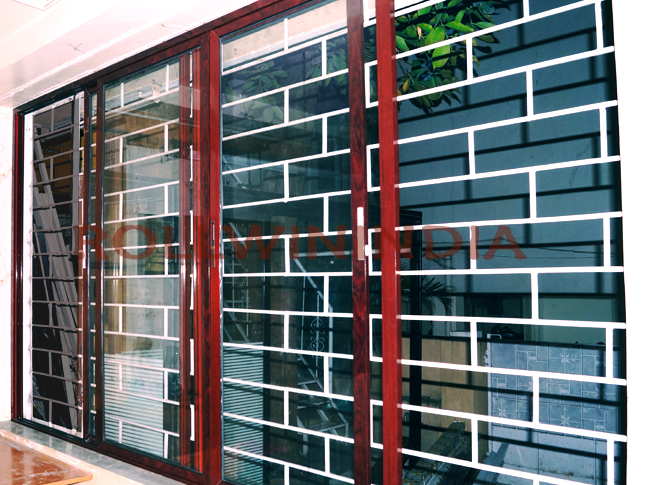 wooden finish aluminium windows